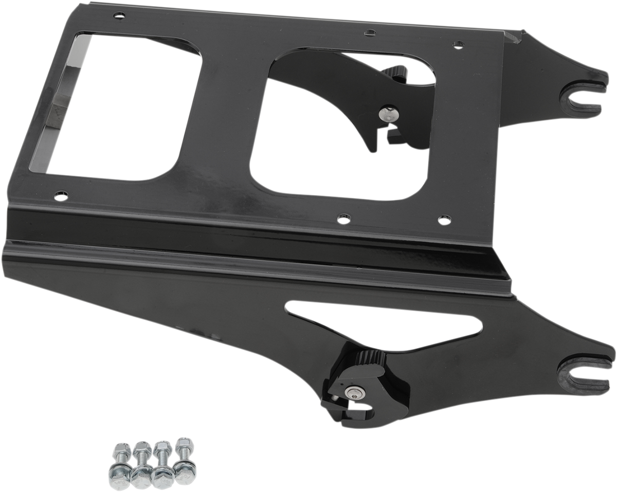 Drag Specialties Black Quick Detach Tour Box Mount for 09-13 Harley Touring FLTR