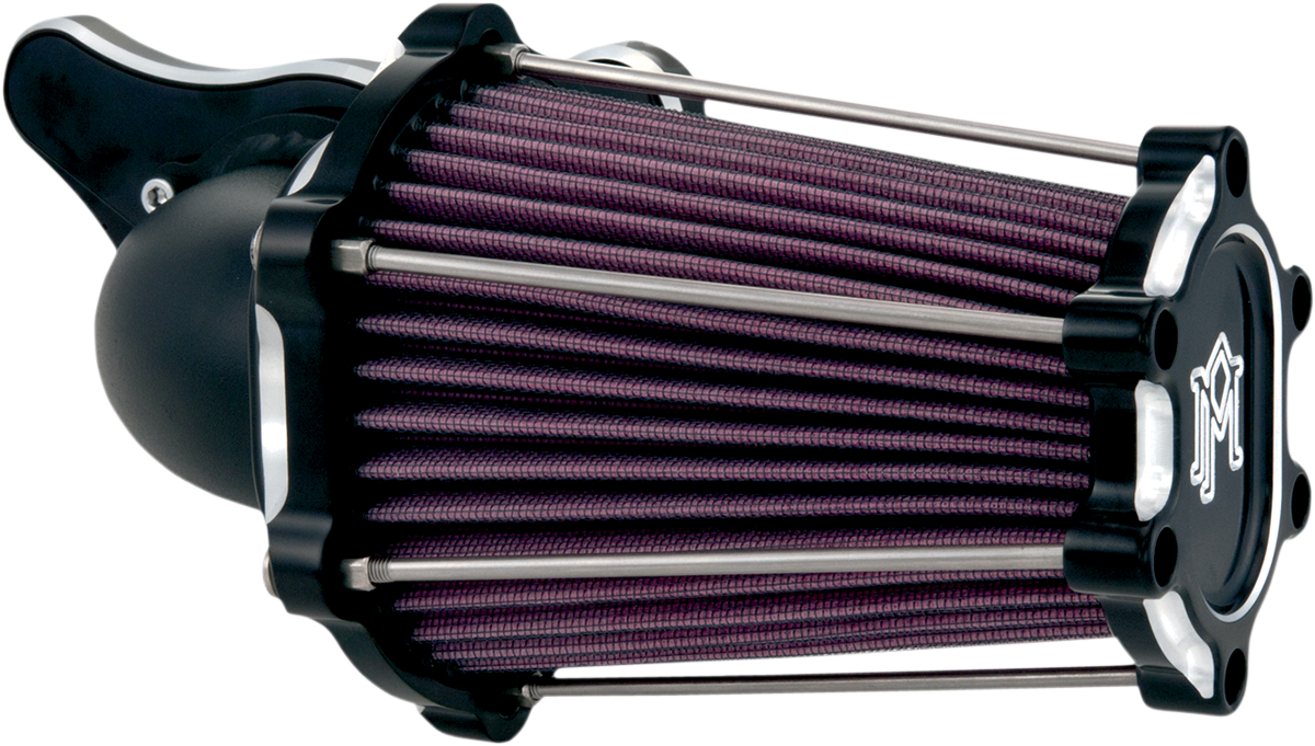 Performance Machine Chrome TBW Fast Air Filter Cleaner Kit 08-17 Harley Touring