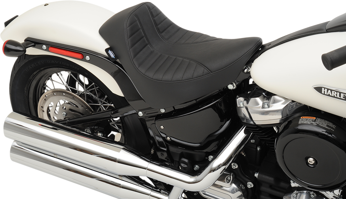 Drag Specialties Scorpion Black EZ On Solo Seat for 18-20 Harley Softail FXBB