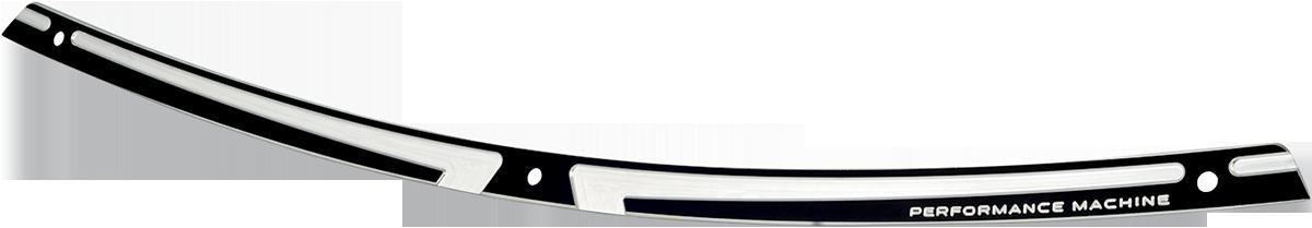 Performance Machine Black Chrome Scallop Fairing Trim 96-13 Harley Touring FLHX