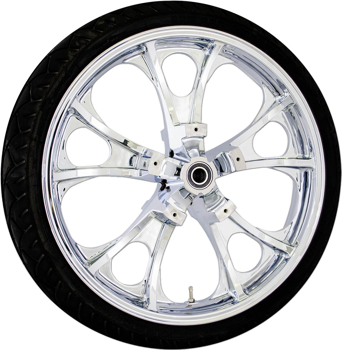 Coastal Moto Chrome Largo non ABS Front Tire & Wheel for 08-18- Harley Touring