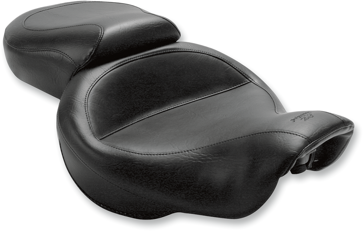 Mustang Wide Vintage 2-Up Motorcycle Solo Seat 06-17 Harley Dyna FXDF FXDL FLD