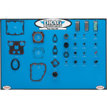 GASKET, SEAL AND O-RING DISPLAY FOR TWIN CAM MOTORS