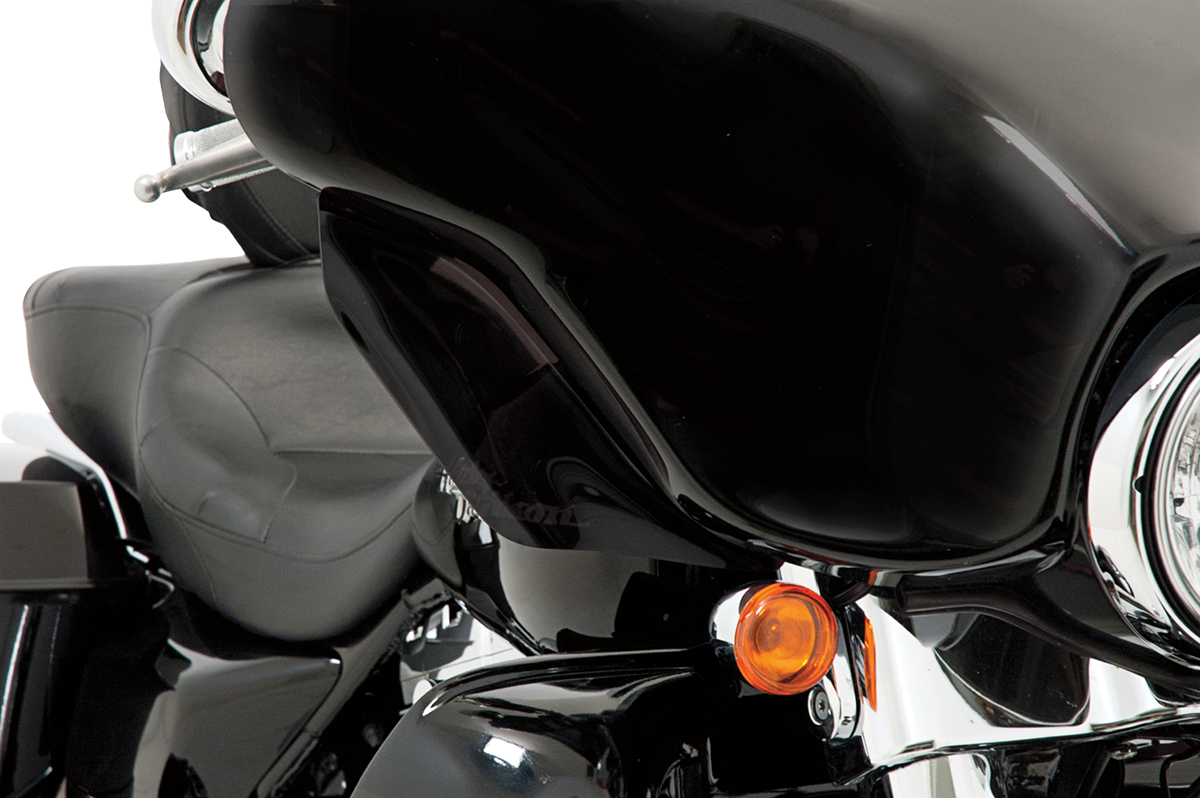 Memphis Shades Black Front Fairing Wind Deflectors for 96-13 Harley Touring FLHX