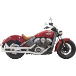 """21/4"""" CHROME MUFFLERS WITH BAFFLE AND FISHTAIL END CAPS"""