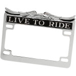 """LIVE TO RIDE"" LICENSE PLATE FRAME"