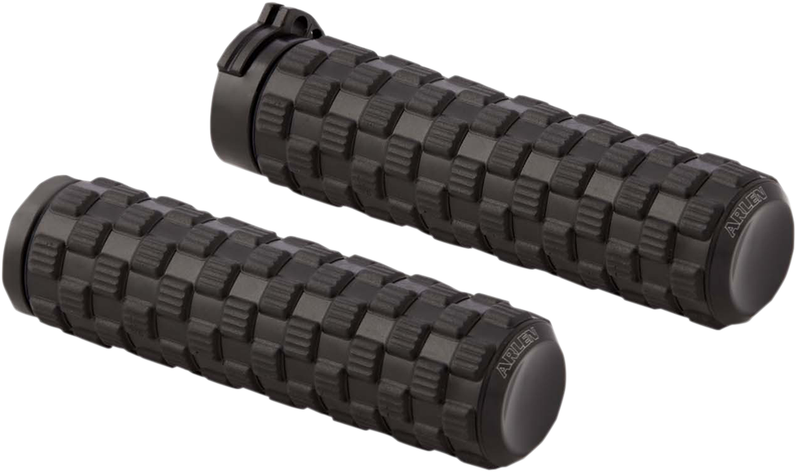 "Arlen Ness Air Trax Black Cable 1"" Motorcycle Grips 76-19 Harley Touring Softail"