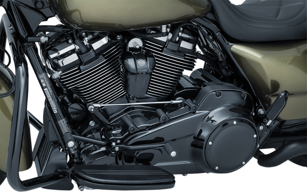 Kuryakyn 6424 Black Percision Lower Front Frame Cover for 17-19 Harley Touring