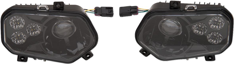 Moose Utility Front LED ATV UTV Side by Side Headlights 09-20 Polaris Ranger RZR