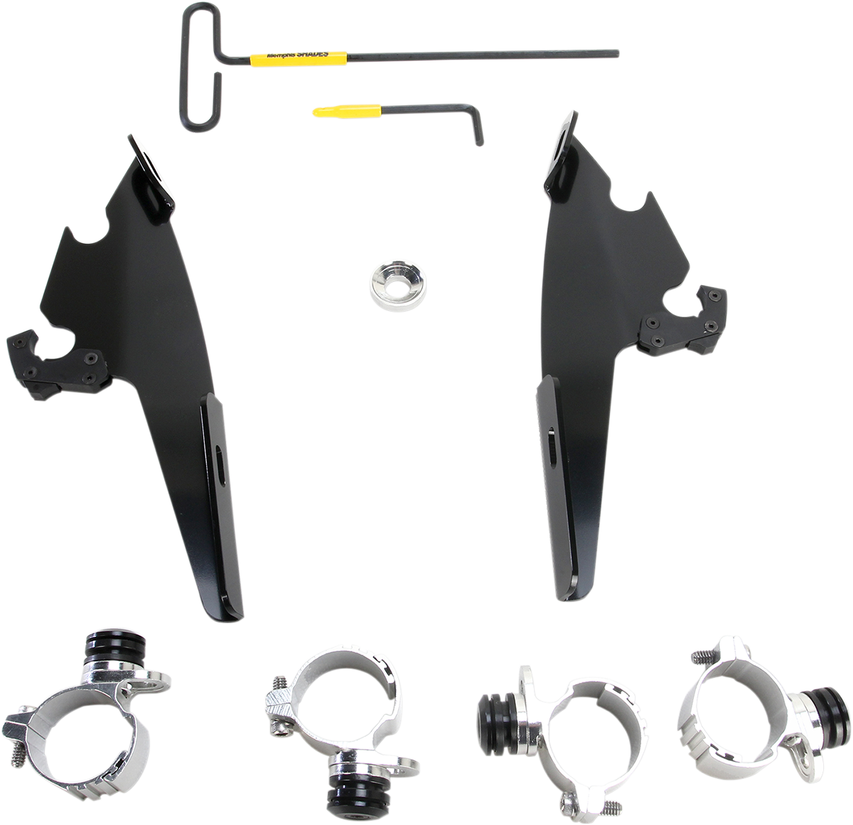 Memphis Shades Batwing Fairing Trigger Lock Mount Kit 11-19 Harley Super Low XLT
