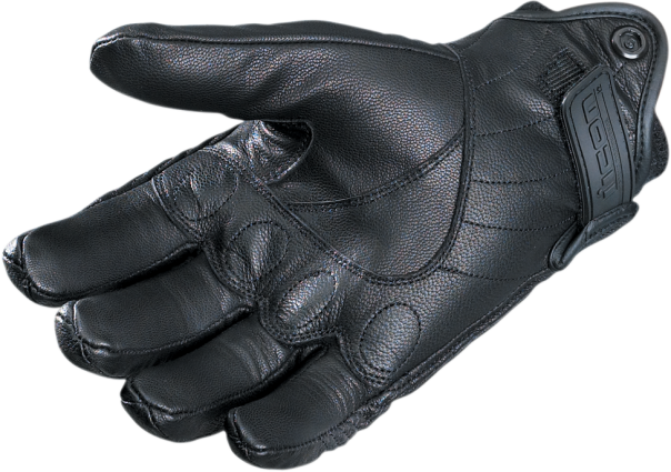 Icon Pursuit Black Leather Large Womens Motorcycle Riding Gloves