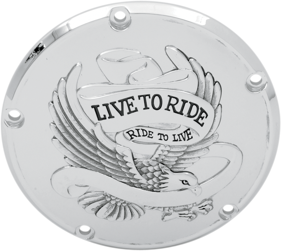 Drag Specialties Silver Live to Ride 5 Hole Derby Cover 99-17 Harley Touring