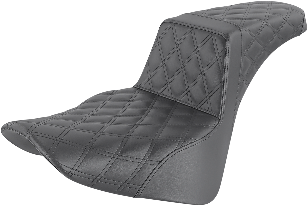 Saddlemen Step Up LS Black Motorcycle Seat 18-20 Harley Softail FLSL FLHC FLDE