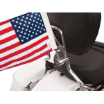 SIDE MOUNT SISSY BAR FLAG MOUNTS WITH FLAG