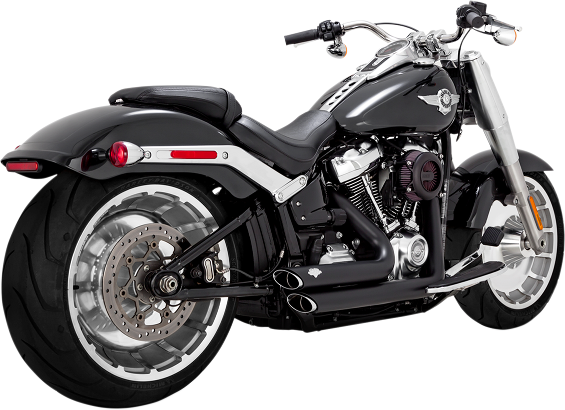 Vance & Hines Black Shortshots Staggered Exhaust for 2018 Harley Fat Boy FXBR