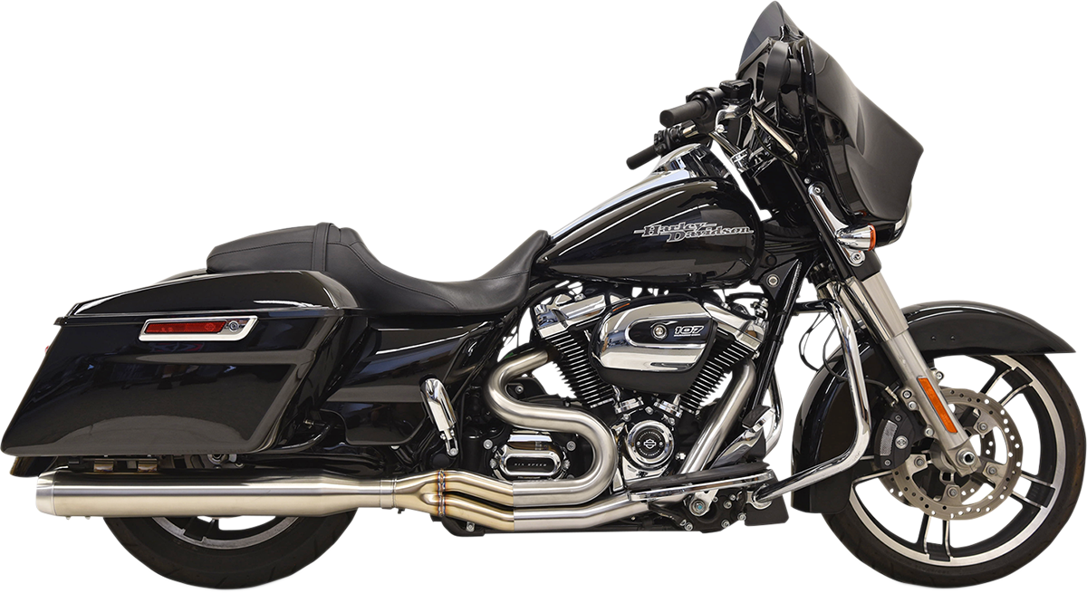 Bassani 2-1 Road Rage 3 Short Exhaust for 17-18 Harley Touring FLHR FLHX FLHRXS