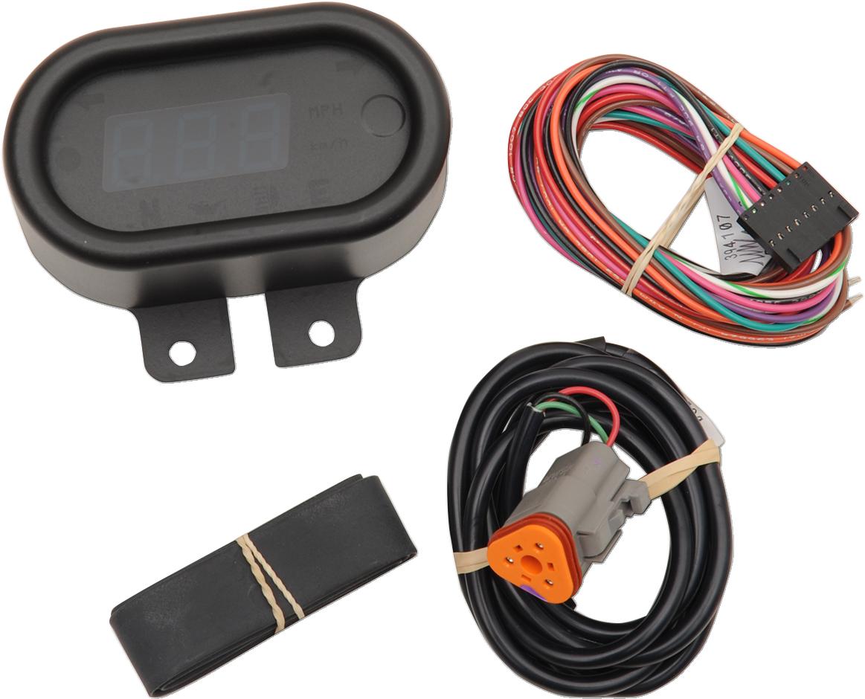 Dakota Digital Classic Black 5000 Series Electronic Motorcycle MPH Speedometer