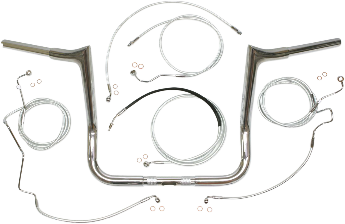 "Magnum 10"" Chrome Viking 1 /14"" Handlebar Kit for 17-19  Harley Touring ABS"