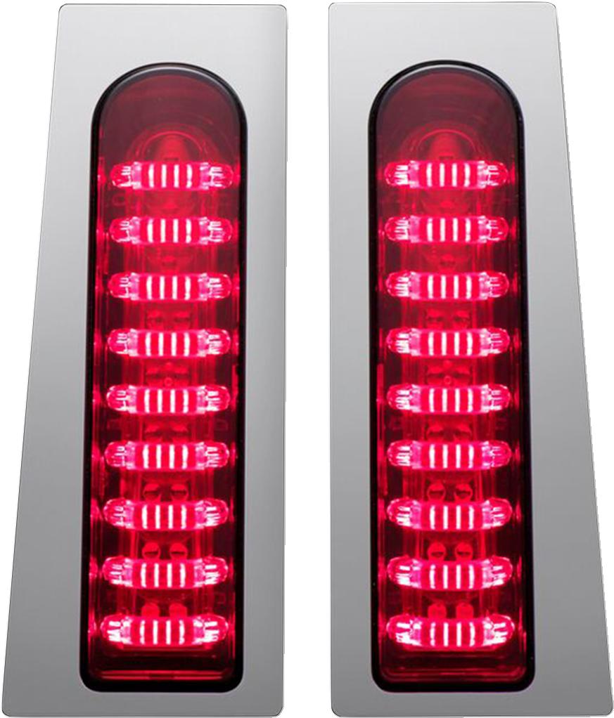Custom Dynamics Chrome Probeam LED Fillerz Lights for 14-18 Harley Touring FLHX