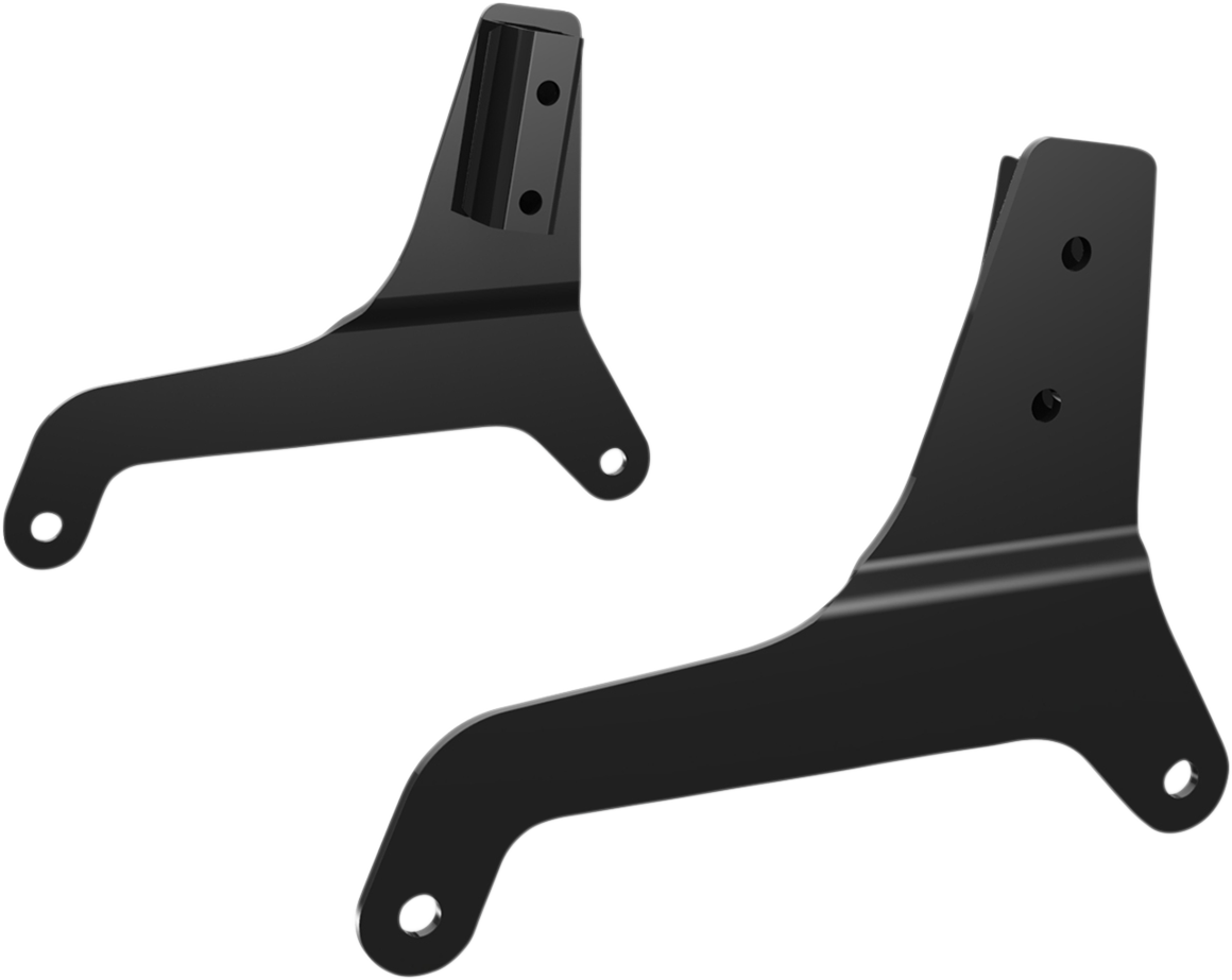 Drag Specialties Pair Black Sissy Bar Side Plates for 18-19 Harley Softail FXLR