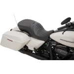 LARGE TOURING SEATS WITH FORWARD POSITIONING THAT ACCEPT FRAME-MOUNTED BACKRESTS