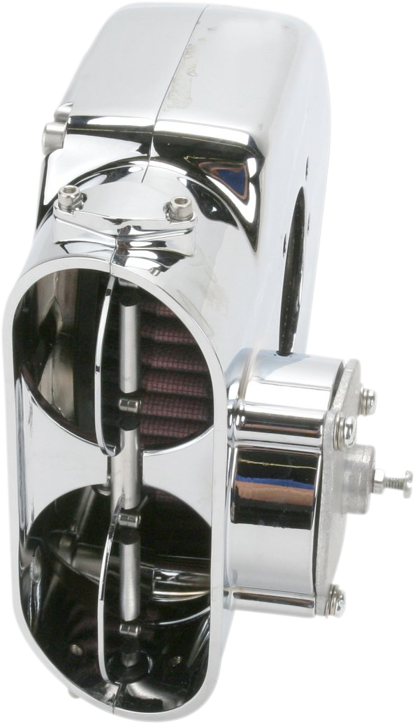 Kuryakyn 9763 Chrome Hypercharger Air Filter Kit 01-05 Harley Touring Softail