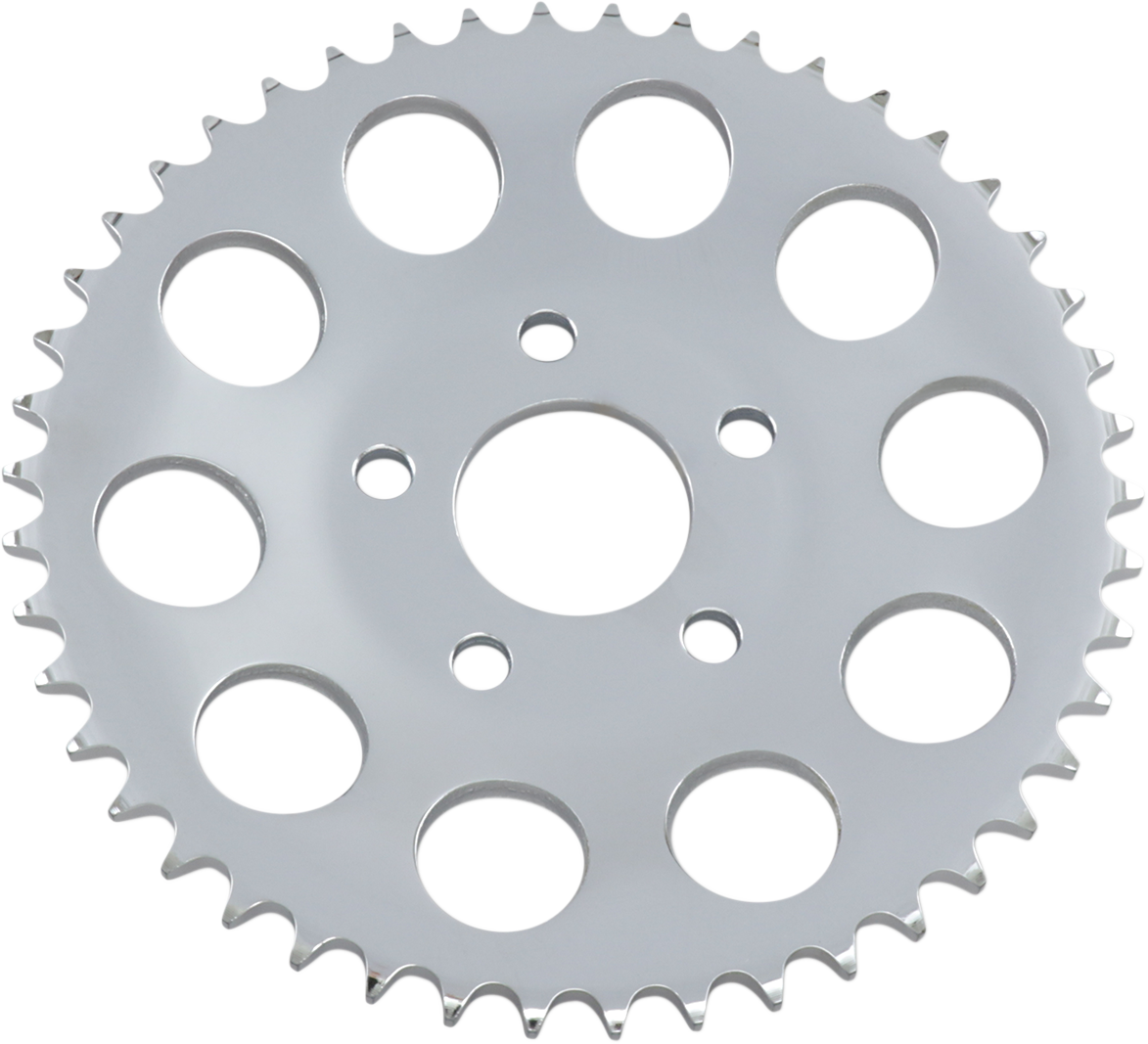 Drag Specialties Chrome 46 Tooth Dished Rear Sprocket 82-99 Harley Dyna Touring