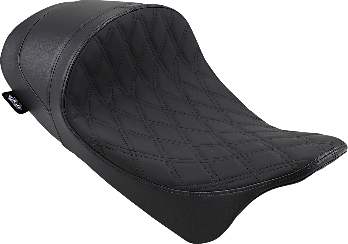 Drag Specialties Double Diamond Motorcycle Solo Seat 08-20 Harley Touring FLHX