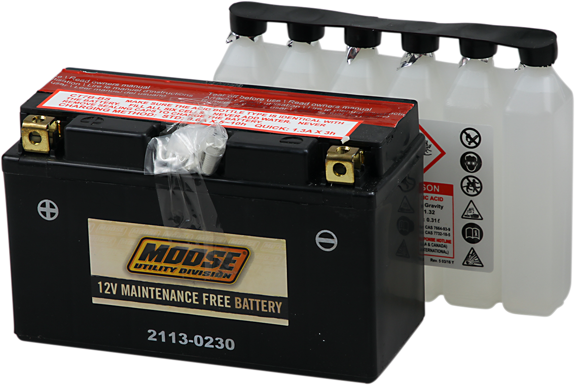 Moose YT7B-BS Maintenance Free Battery for 04-09 Yamaha YFZ 450 4x2
