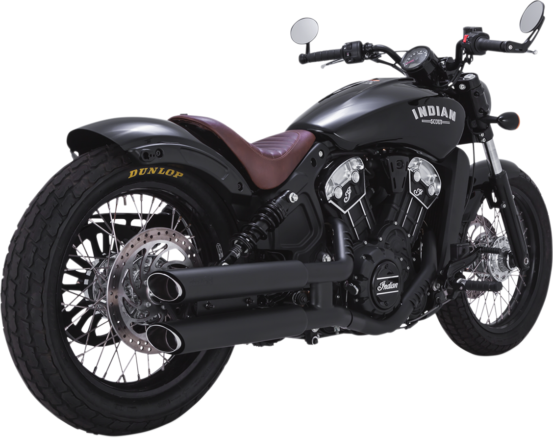 Vance & Hines Black Twin Slash Exhaust Mufflers for 15-18 Indian Scout