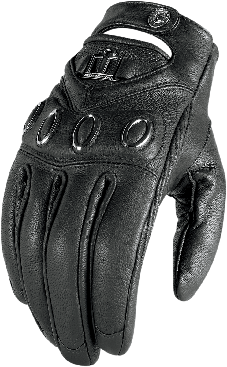 Icon Womens Black Hella Motorcycle Riding Street Racing Gloves