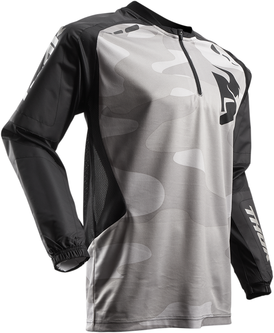 Thor Black Camo Terrain Off road Riding Dirt Bike Racing Long Sleeve Jersey