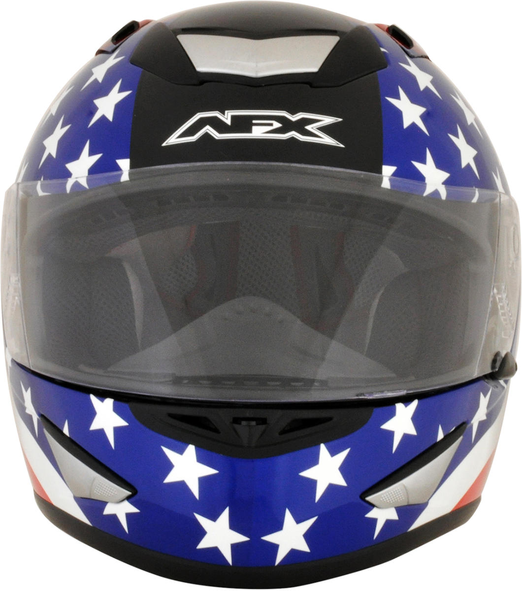AFX FX95 Extra Small Black American Flag Motorcycle Riding Street Racing Helmet