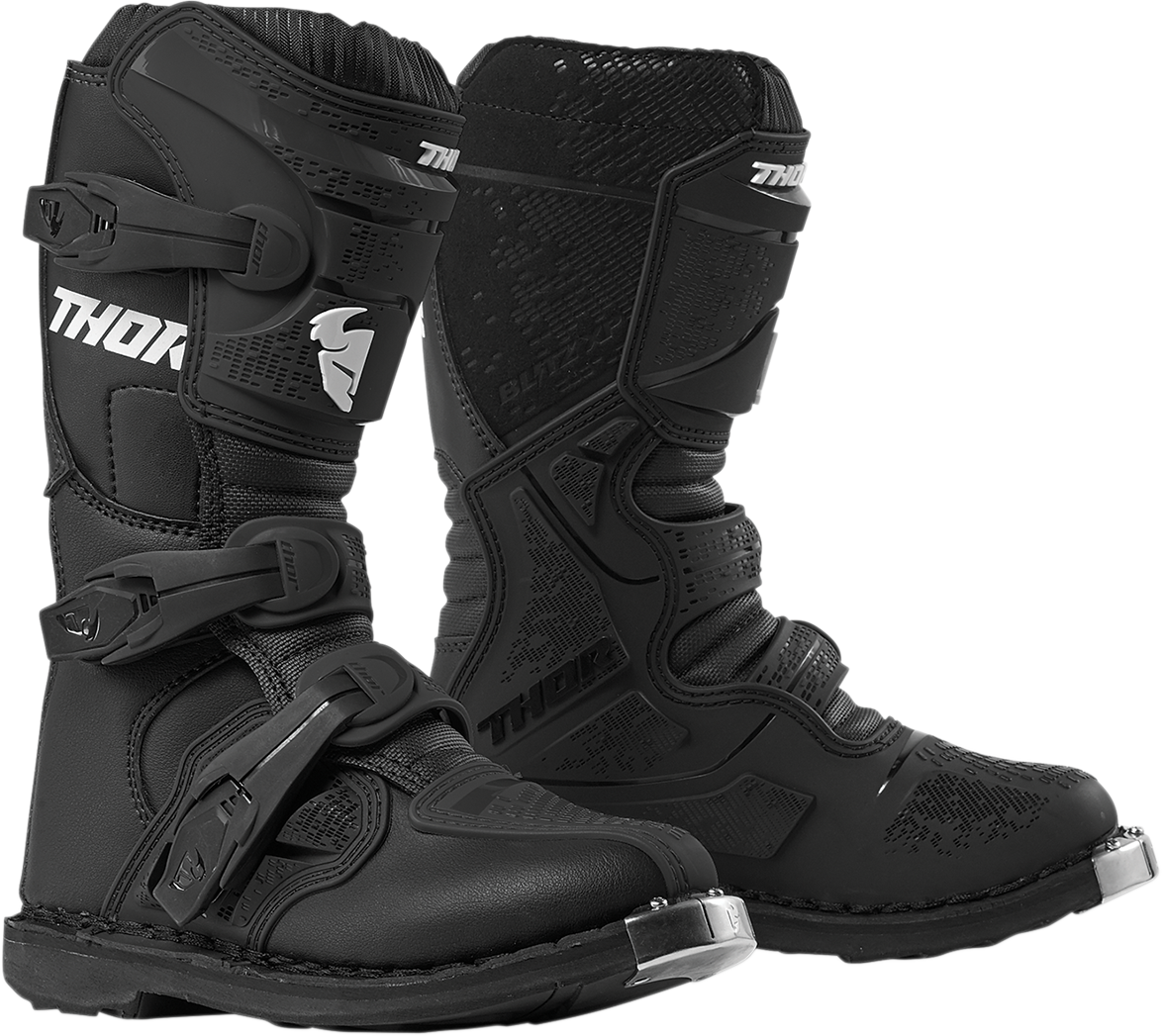 Thor Textile Pair Youth Kids Blitz XP Offroad Riding Dirt Bike Racing Boots