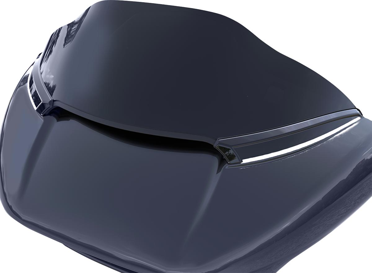 Ciro LED Black Horizon Turn Signal Windshield Trim 15-18 Harley Touring FLTRXS