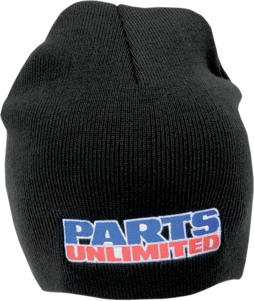 Parts Unlimited Unisex Adult Black Blue Red White One Size Acrylic Casual Beanie