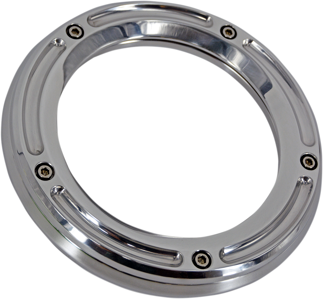 Trask Chrome Assault See Through 5 Hole Derby Cover 16-20 Harley Touring FLHX