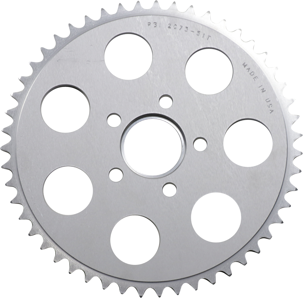 PBI Chrome Rear 51 Tooth Sprocket 86-13 Harley Dyna Touring Softail Sportster