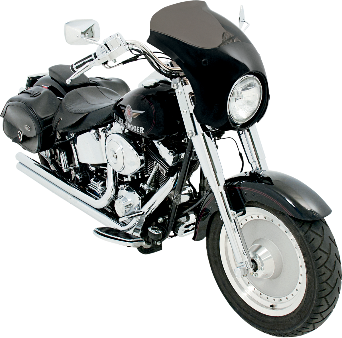 Memphis Shades Bullet Fairing & Polished Mount Kit for 86-17 Harley Softail