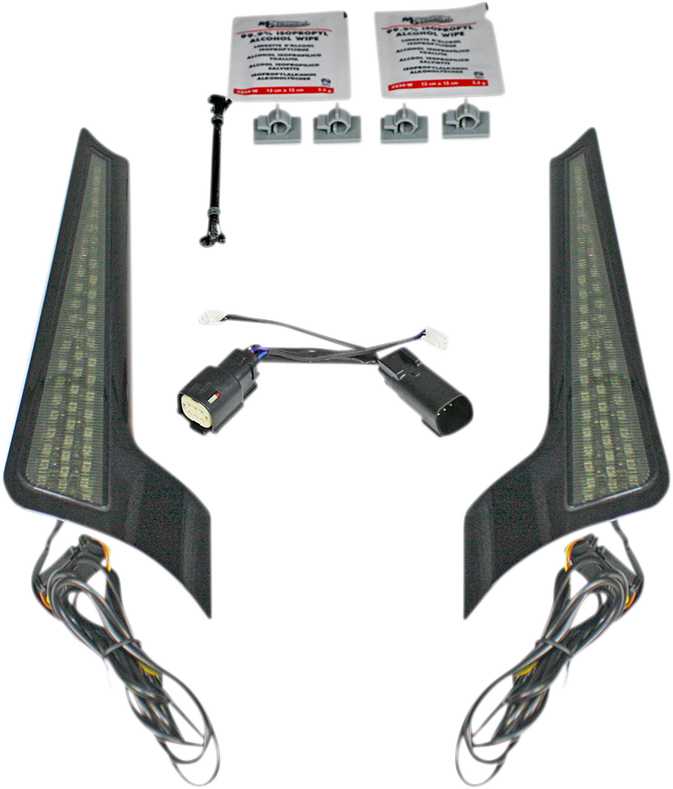 Custom Dynamics Smoke Lens LED Fascia Panel Lights 10-13 Harley Touring FLHX