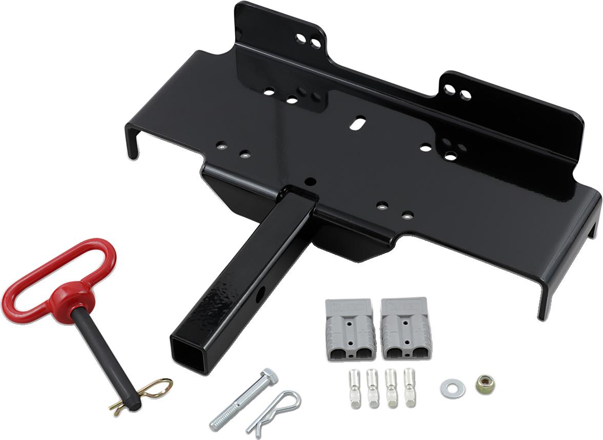 "Moose Utility ATV UTV Universal Black 1-1/4"" Steel Winch Receiver Mounted Cradle"