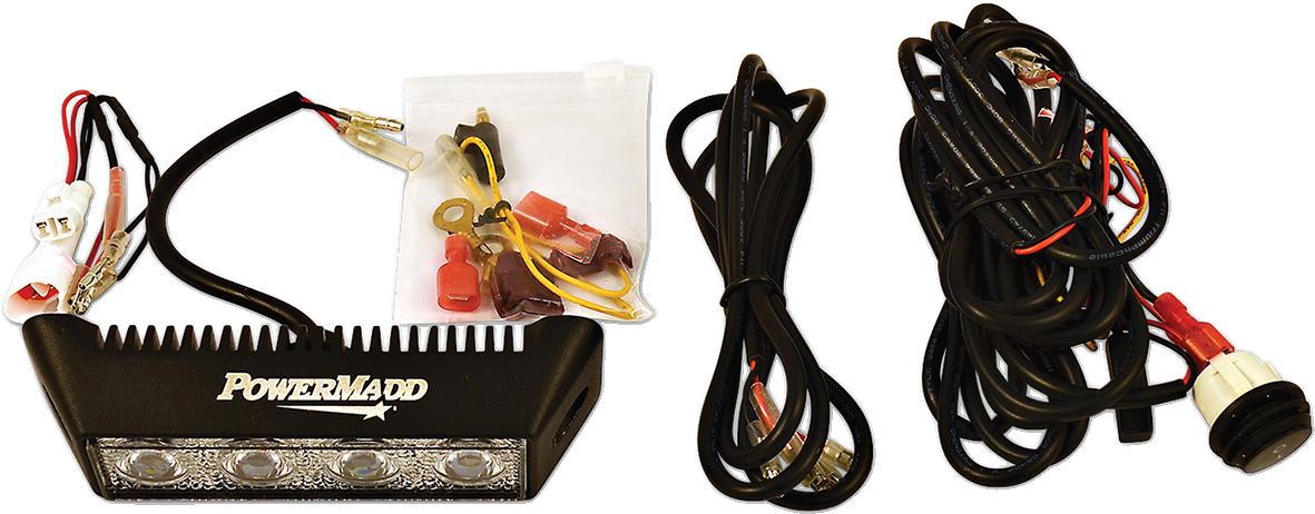 Powermadd UTV Side by Side Offroad Automatic Reverse LED Light Kit Yamaha Rhino