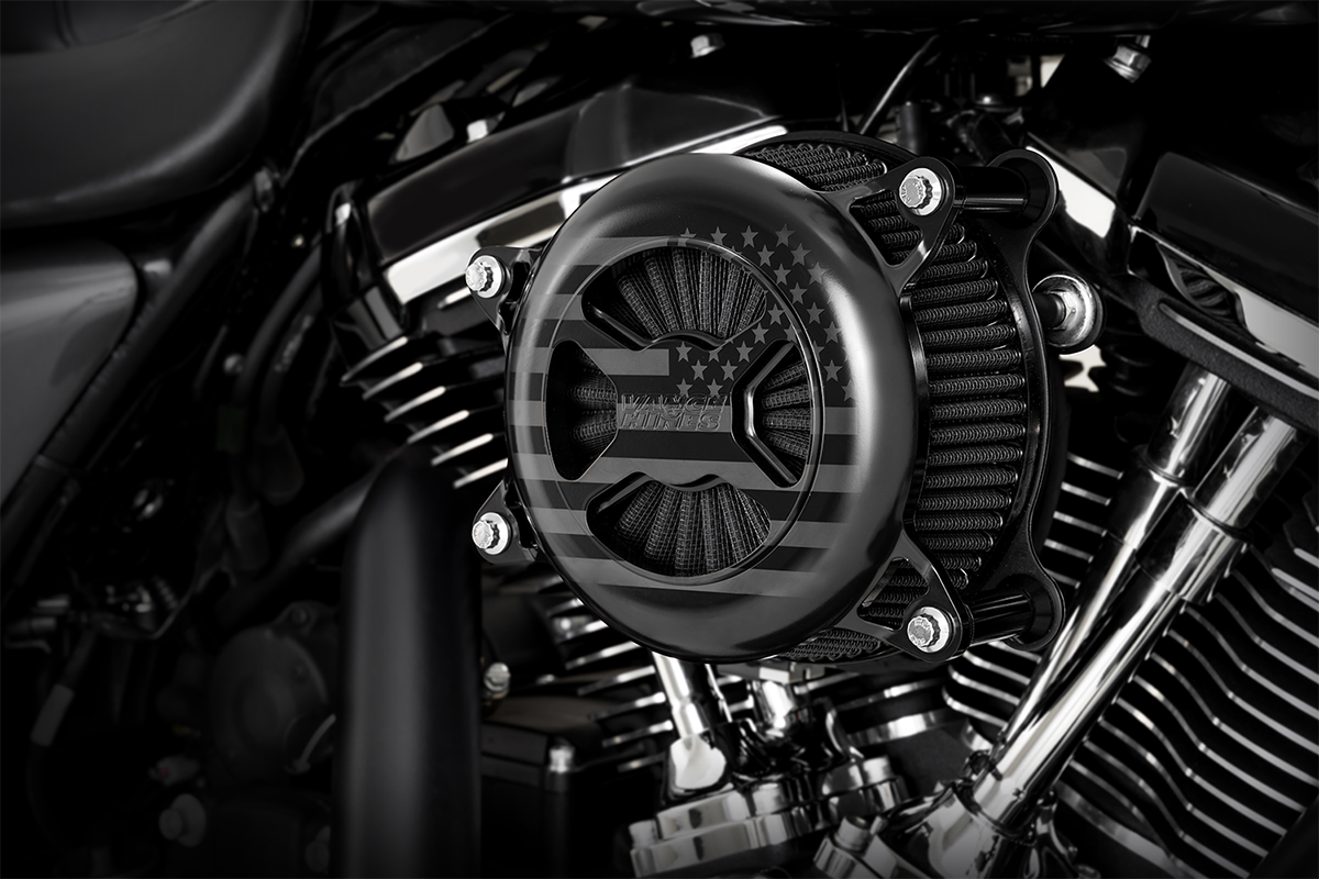 Vance & Hines Black VO2 America Air Filter Cleaner Kit 17-21 Harley Touring