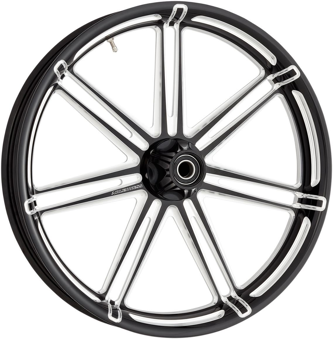 "Arlen Ness Black 7 Valve 26"" x 3.5 ABS Front Wheel for 08-19 Harley Touring"