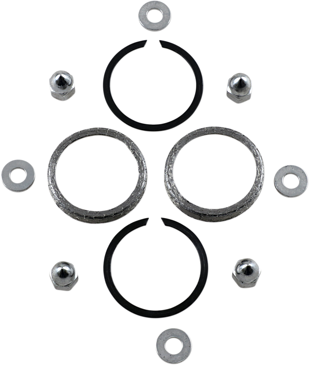 James Gasket Chrome Acorn Nuts & Exhaust Gasket Kit for 86-19 Harley Big Twin XL