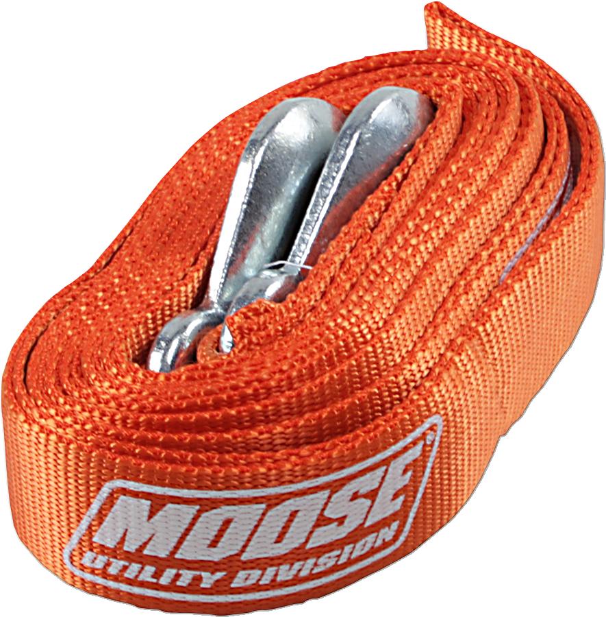 Moose Utility Orange 15' Universal ATV UTV Side by Side 10,000 lb Tow Strap