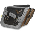 GRAY THUNDER STUDDED SADDLEBAGS