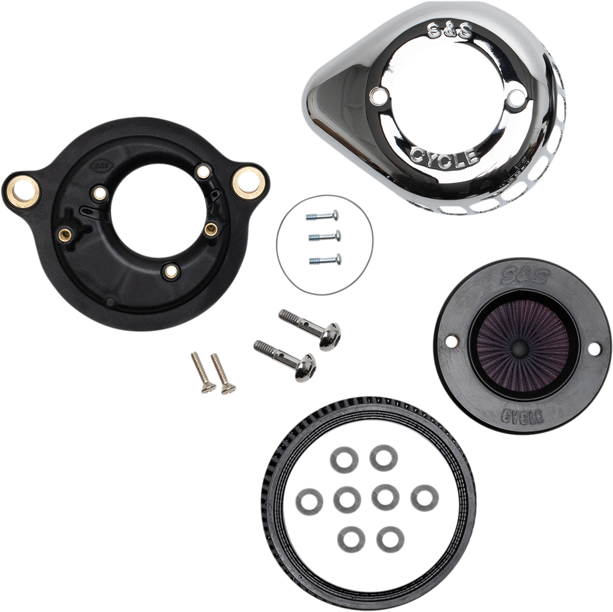 S&S Air Stinger Stealth Air Filter Cleaner Kit 17-20 Harley Softail Touring FLHX