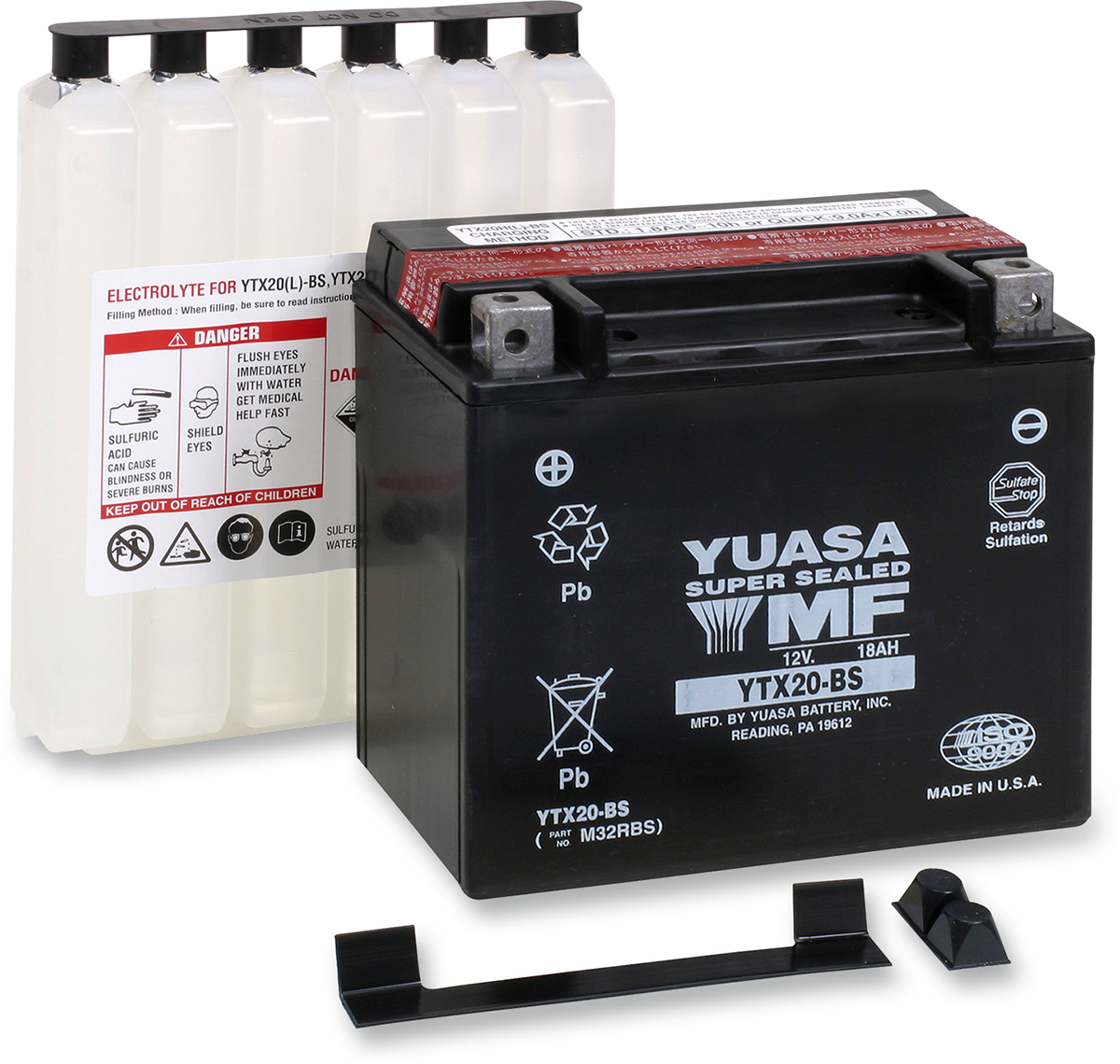 Yuasa 12v Replacement Battery for 79-00 Harley Softail Sportster Honda Ducati
