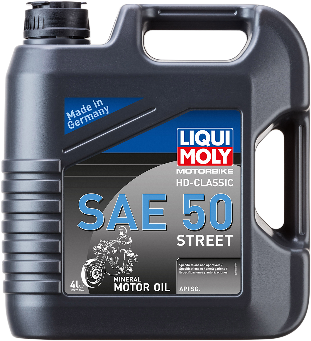 Liqui Moly 4 Liter SAE 50 Classic Motorcycle Engine Mineral Oil for Harley HD